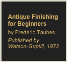 Antique Finishing for Beginners